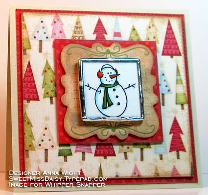 AnnaWightSnowmanMagnetCardFR425