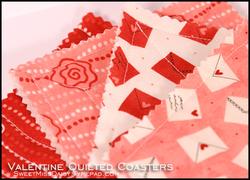 Valentinequiltedcoasters